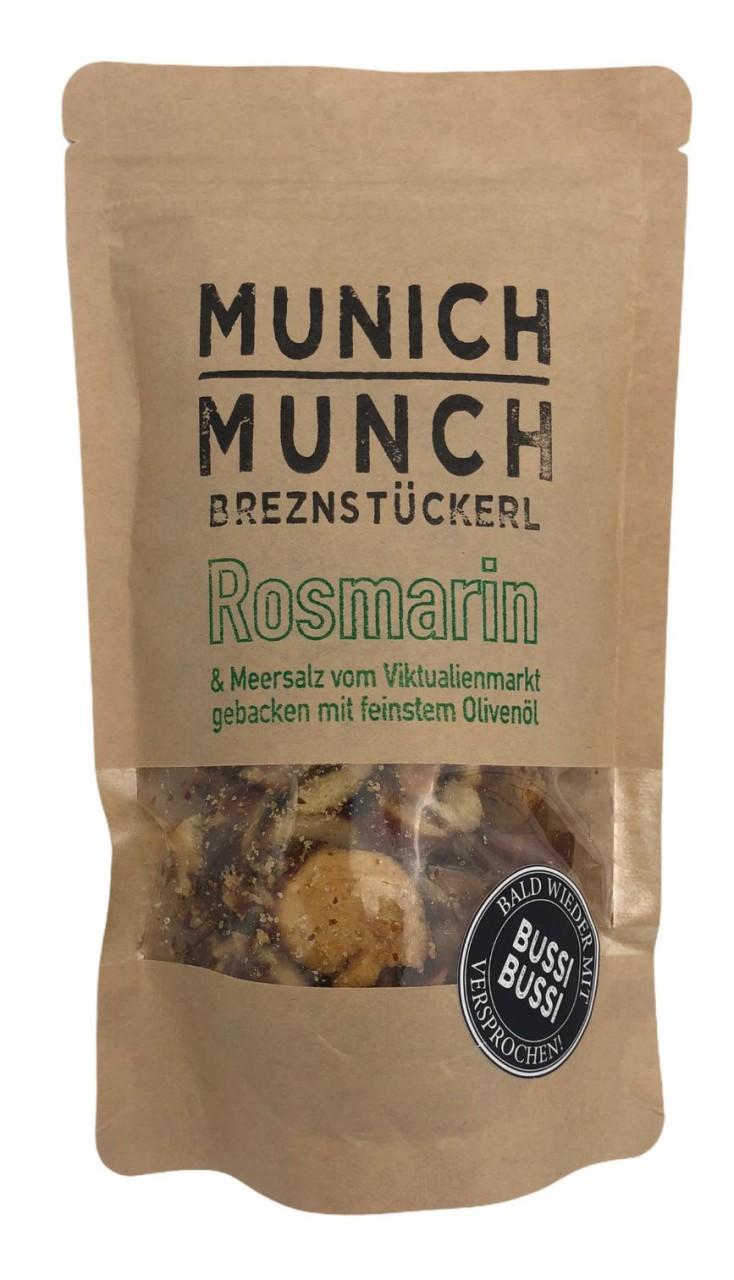 Munich Munch Brezenstückerl Rosmarin & Meersalz vom Viktualenmarkt gebacken mit feinstem Olivenöl