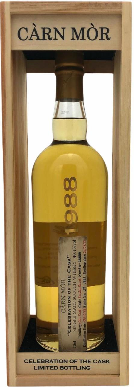 """Carn Mor """"Celebration of the Cask"""" 1988 Single Malt Scotch Whisky 40,1% vol. 0,7l"""