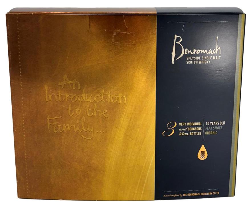 Benromach Speyside Single Malt 3 x 20 cl (1 x 10 Years, 1 x Peat Smoke, 1 x Organic in GB)