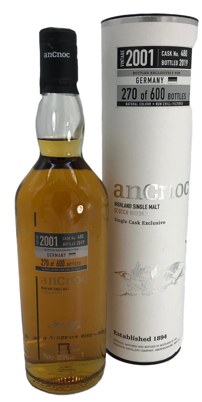 anCnoc Highland Single malt Vintage 2001