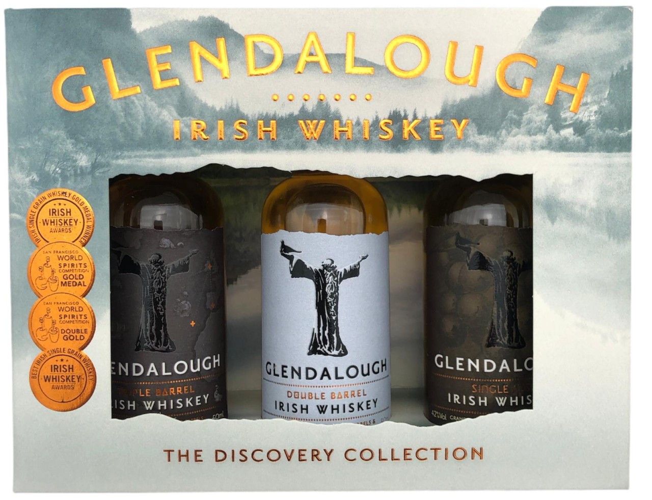 Glendalough Irish Whiskey The Discovery Collection 3x 5cl