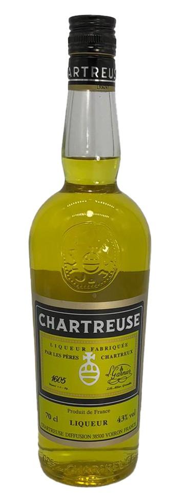 Chartreuse französischer Kräuterlikör gelb