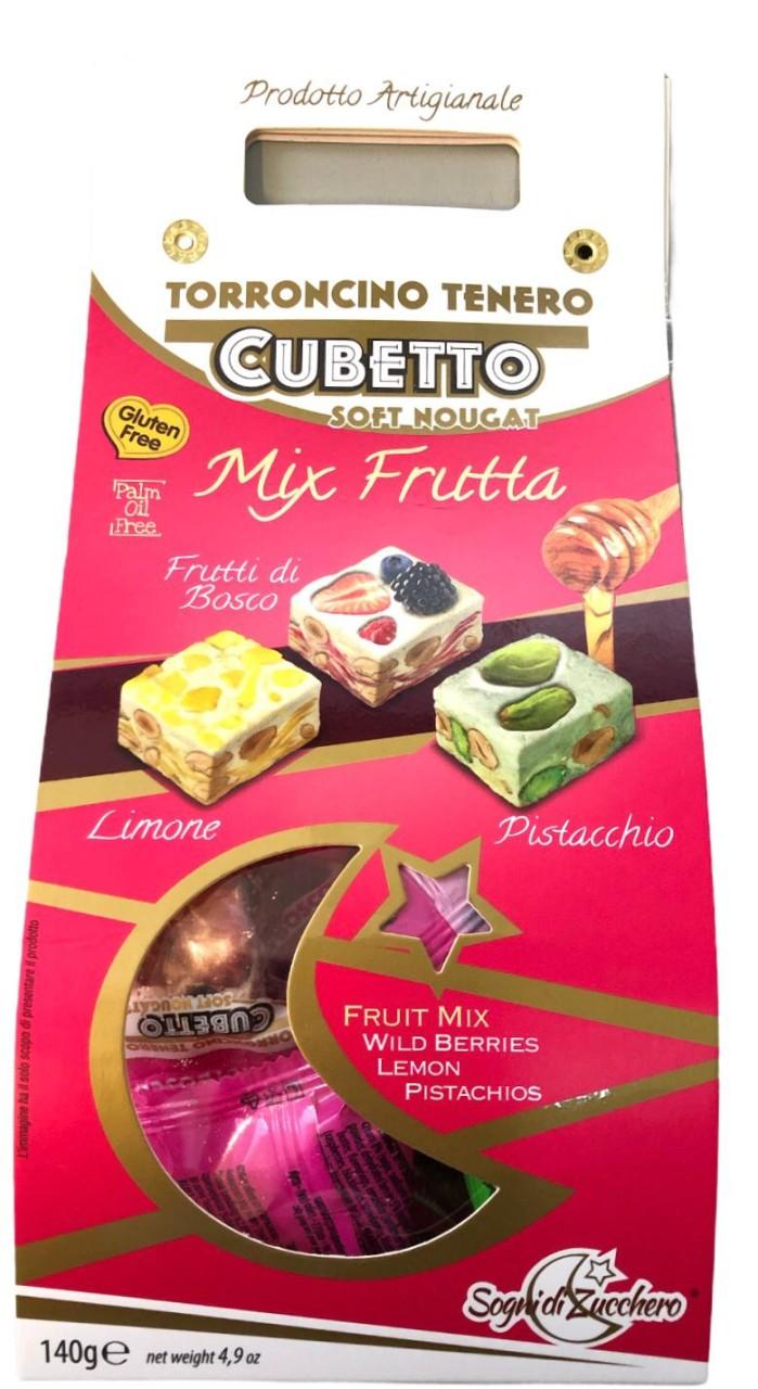 Torroncino Tenero Cubetto Soft Nougat Mix Frutta 140g