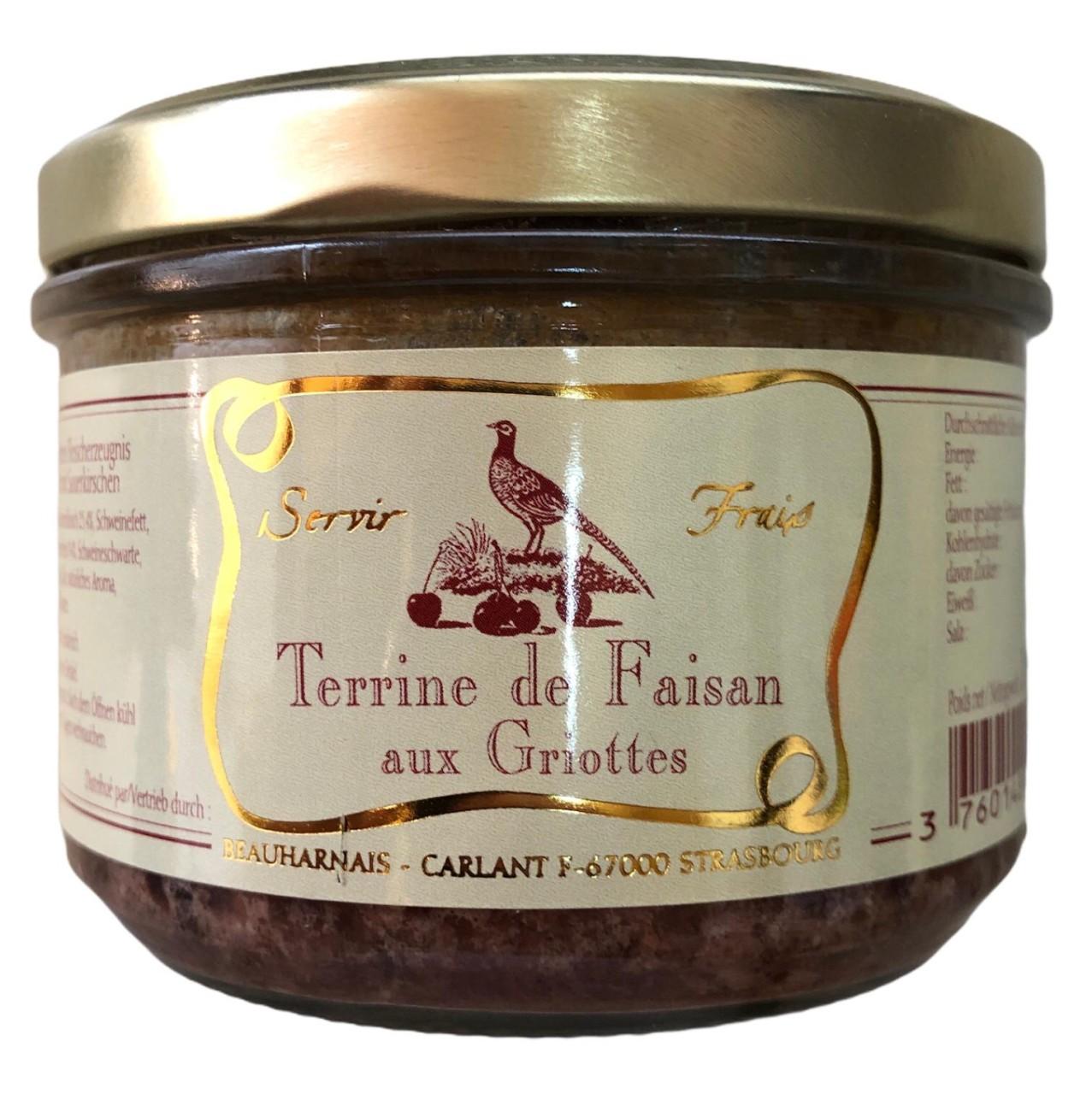Servir Frais Terrine de Faisan aux Griottes (Fasanenfleisch mit Sauerkirschen) 180g