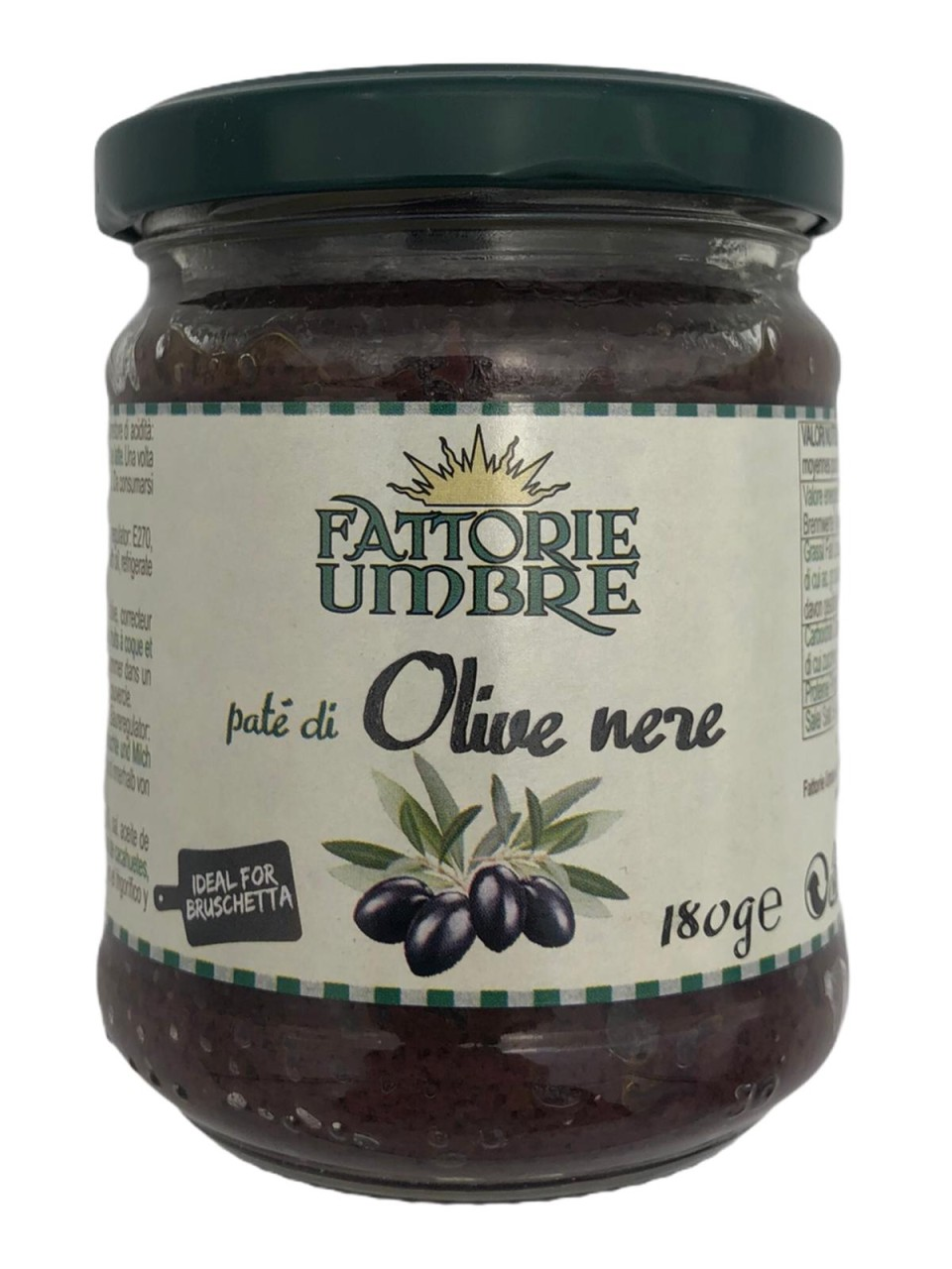 Fattorie Umbre pate di Olive nere 180g