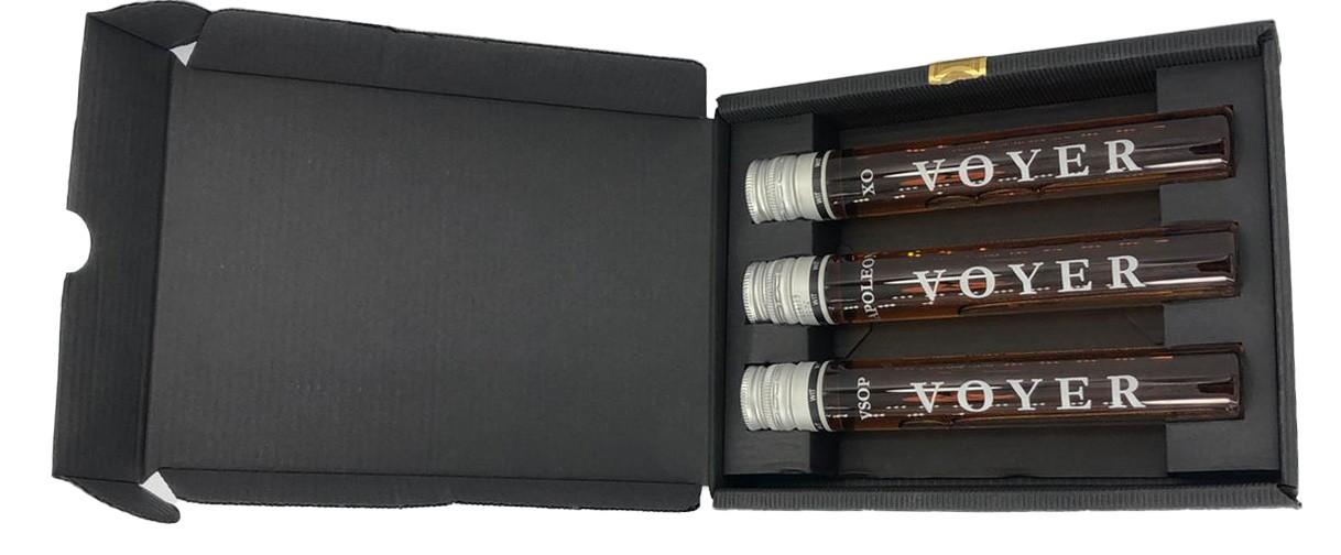 Voyer 3er Geschenkbox 3x60 ml Cognac (1x VSOP, 1x Napoleon, 1x XO)