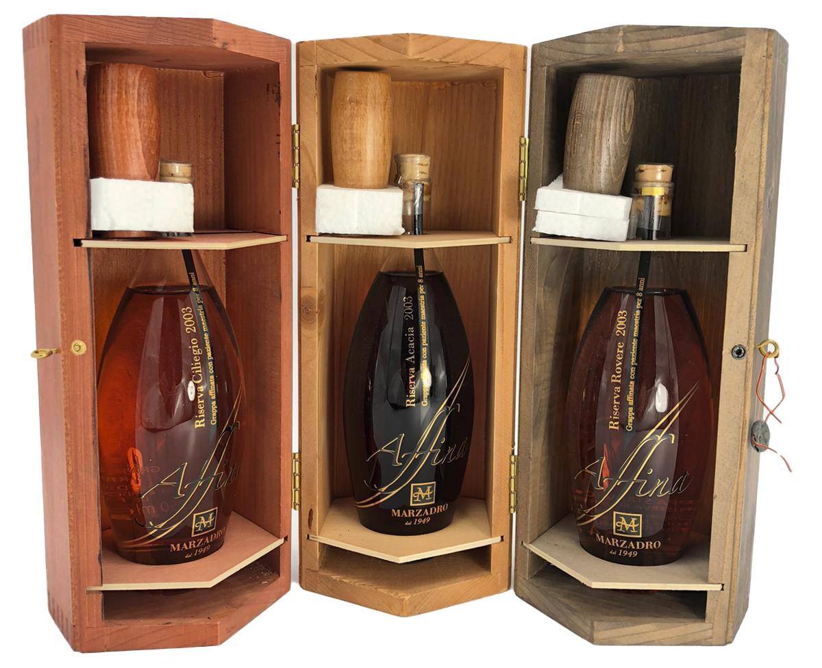 Marzadro Affina 3 x 350 ml (Riserva Ciliegio 2003, Riserva Acacia 2003, Riserva Rovere 2003)