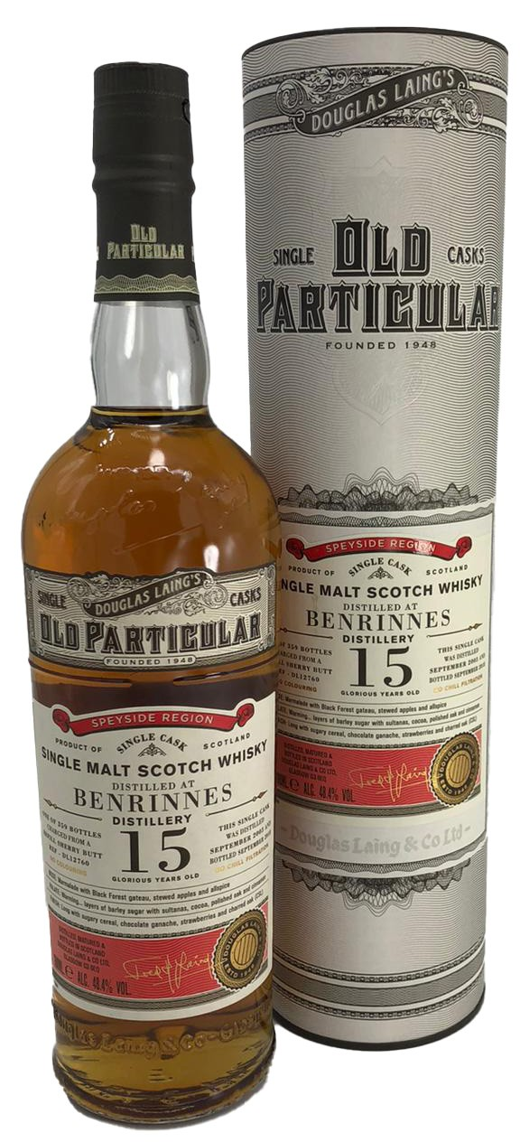 Old Particular Benrinnes 15 Years Old Douglas Laing´s