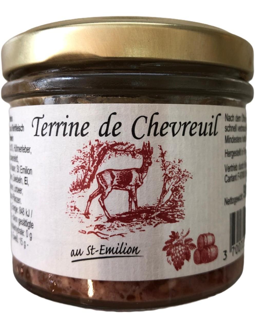Terrine de Chevreuil au St-Emilion (Rehfleisch mit St- Emilion Rotwein) 90g