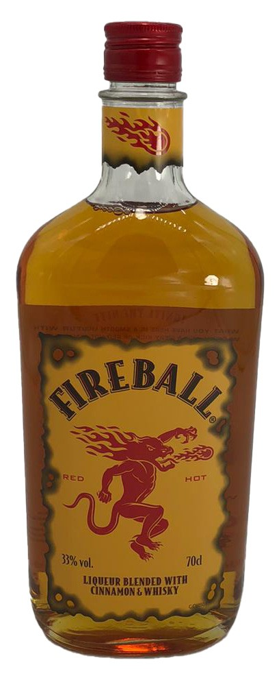 Fireball red Hot Liqueur Blended With Cinnamon & Whisky Likör
