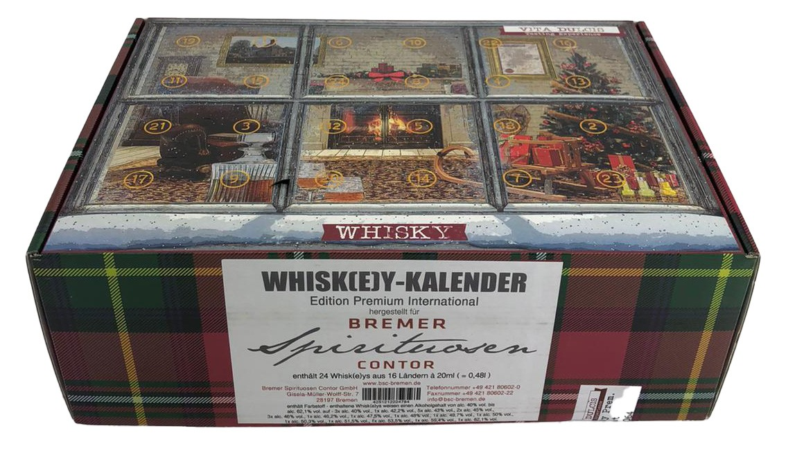 Whisky-Kalender Edition Premium International (enthält 24 Whiskys aus 16 Ländern)