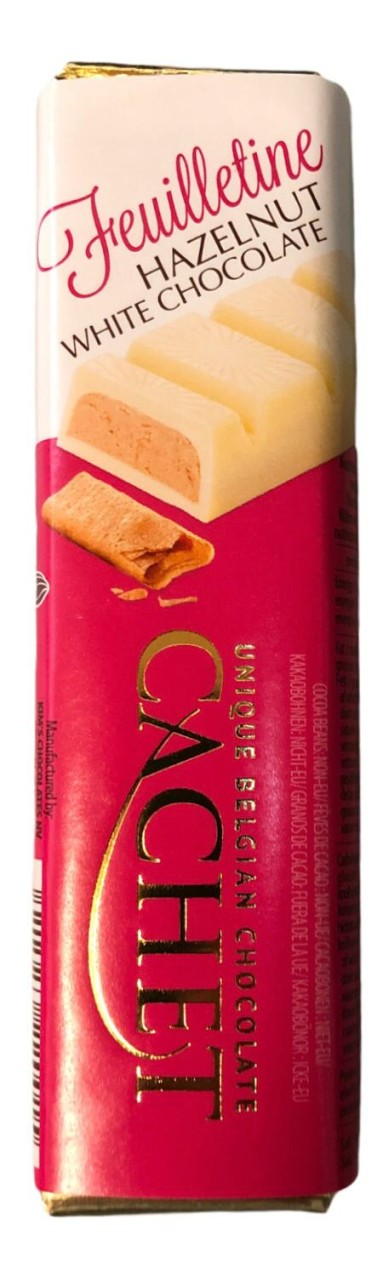 Cachet Feuilletine Hazelnut white Chocolate 75g