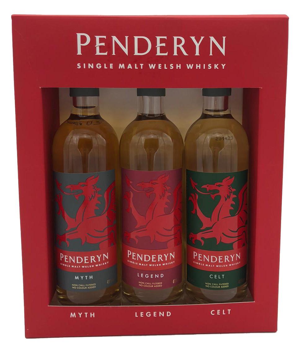 Penderyn Single Malt Welsh Whisky Box 3x 20cl
