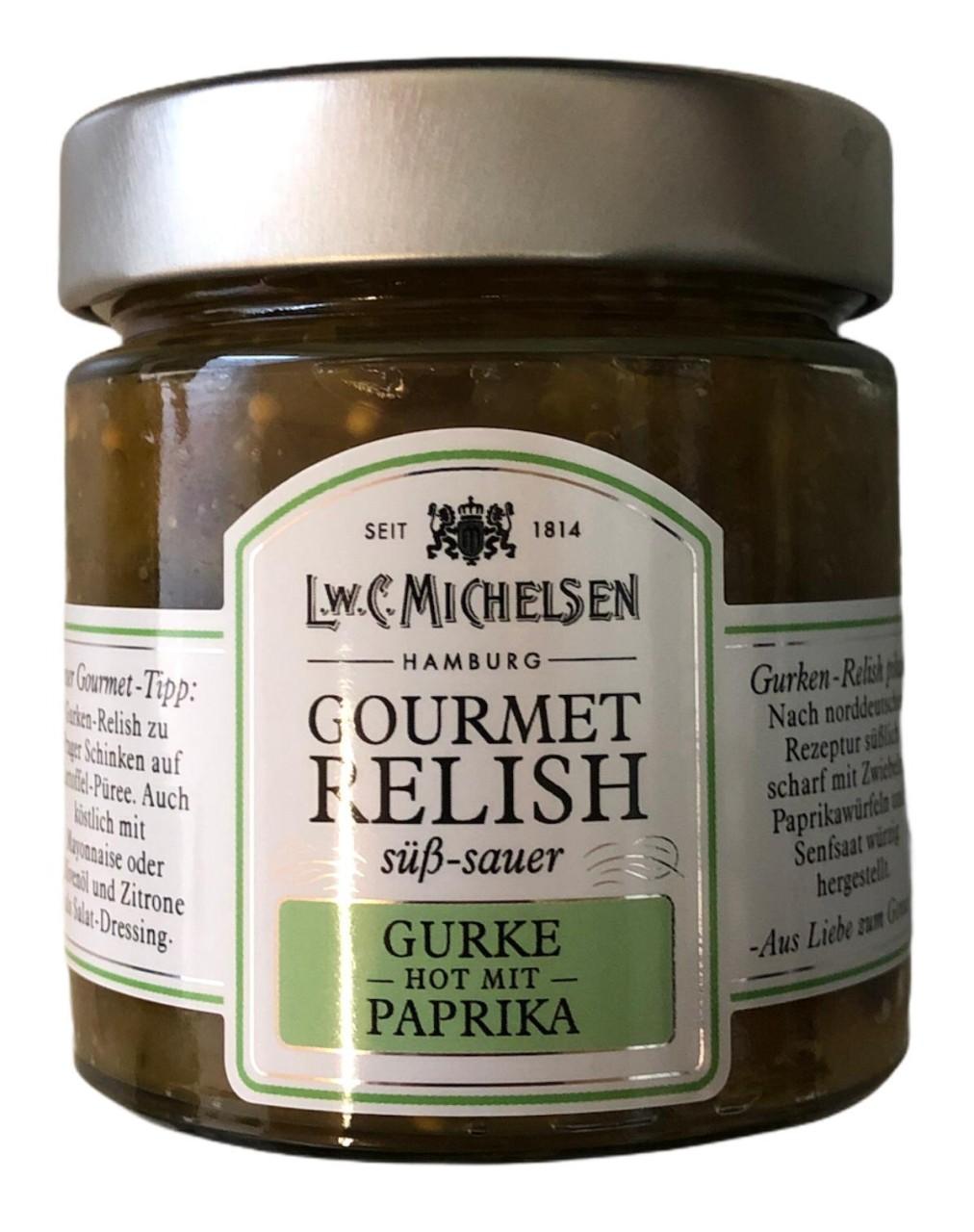 L.W.C. Michelsen Gourmet Relish Gurke-Paprika -süß sauer- 215g