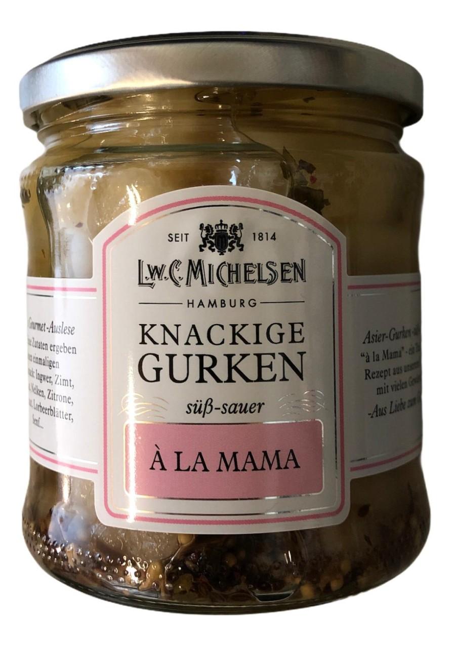 L.W.C. Michelsen Knackige Gurken a la Mama -süß sauer- 330g