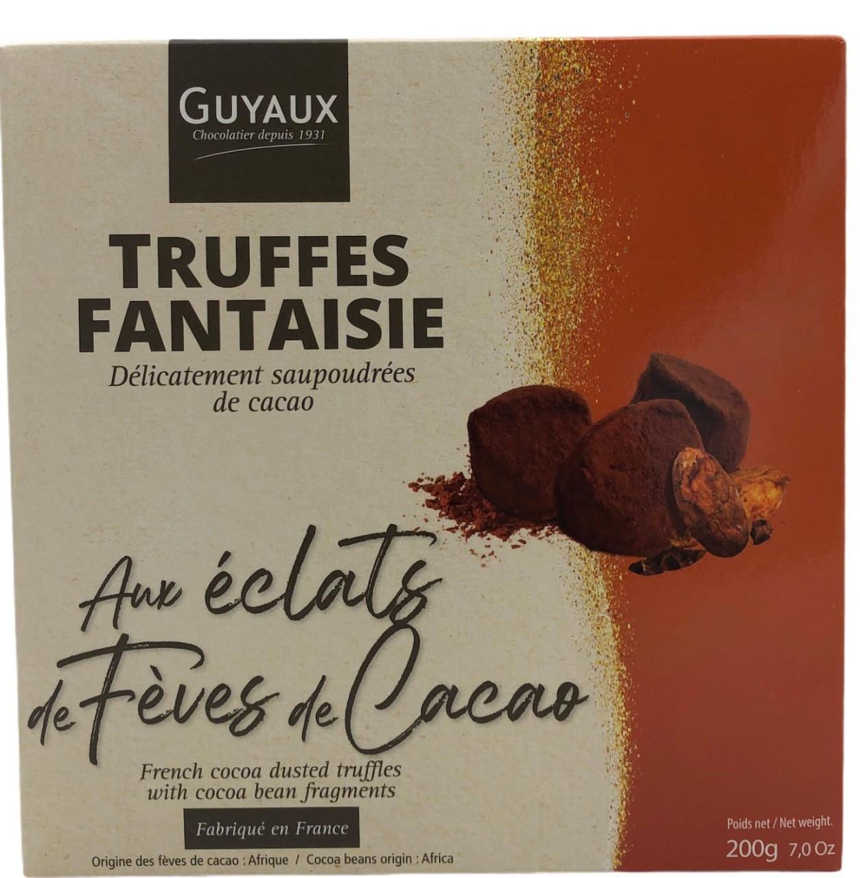 Guyaux Truffes Fantaisie aux eclats de Feves de Cacao 200g