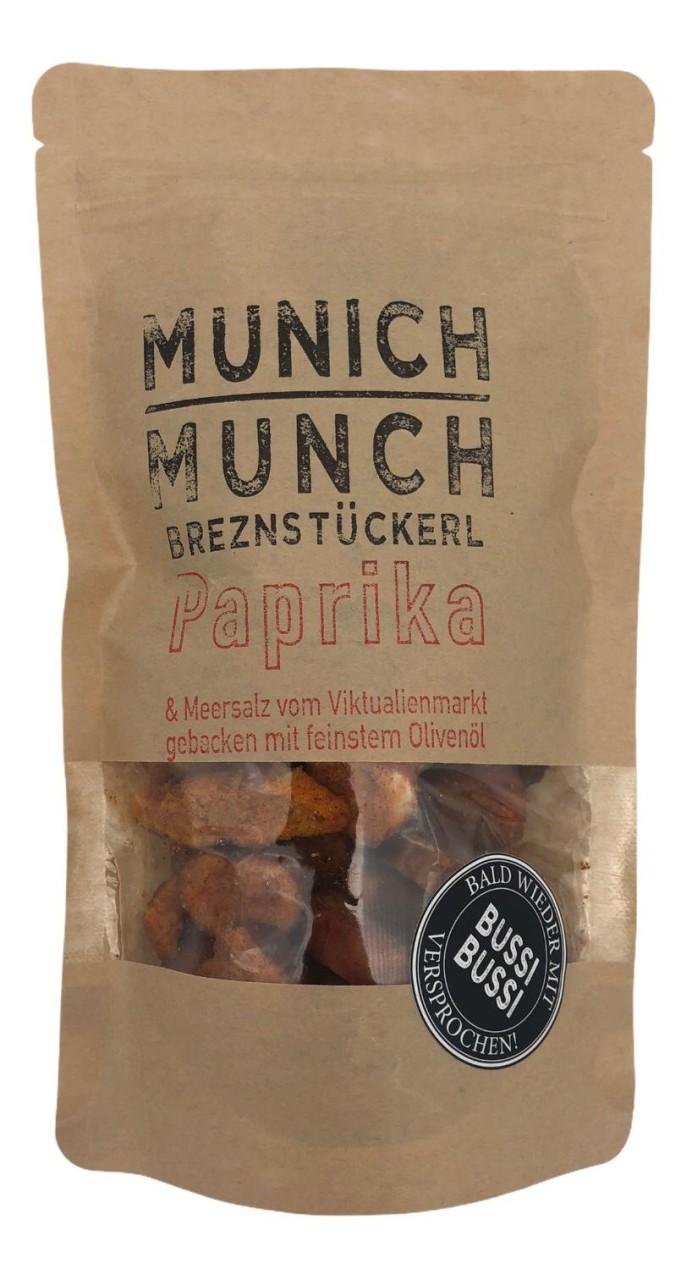 Munich Munch Brezenstückerl Paprika & Meersalz vom Viktualenmarkt gebacken mit feinstem Olivenöl