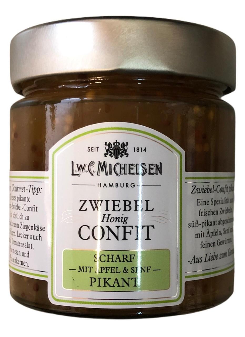 L.W.C. Michelsen Zwiebel Honig Confit -scharf mit Apfel & Senf - pikant 225g