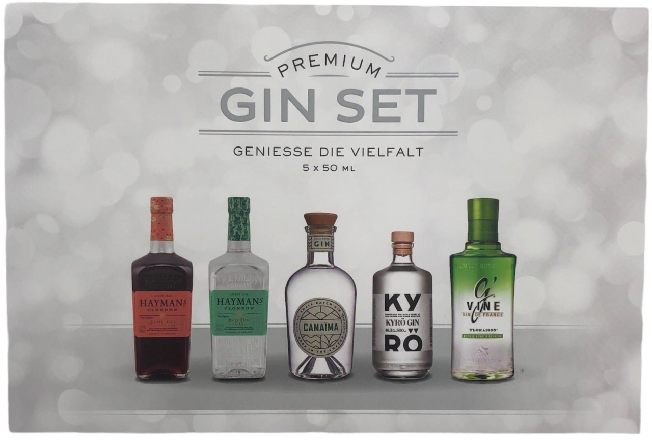 Gin Tasting Box Premium - 5 x 50 ml