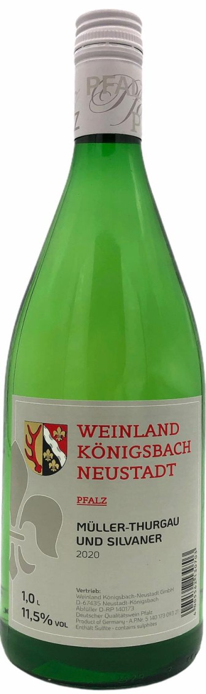 Weinland Königsbach Neustadt Müller Thurgau & Silvaner 1L 2020