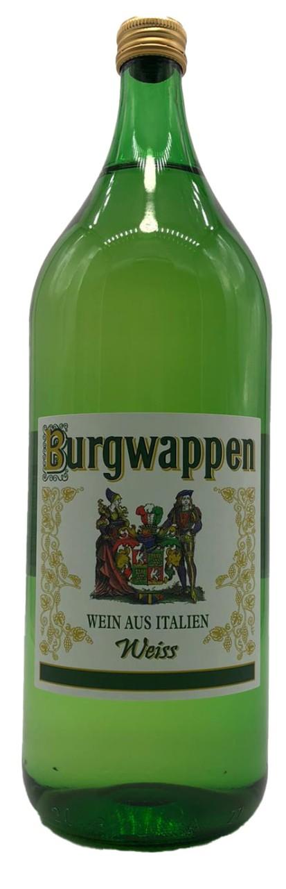 Burgwappen Italienischer Bauernwein 2 Liter Weißwein