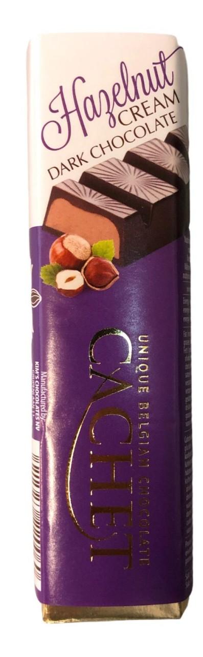 Cachet Hazelnut Cream Dark Chocolate 75g
