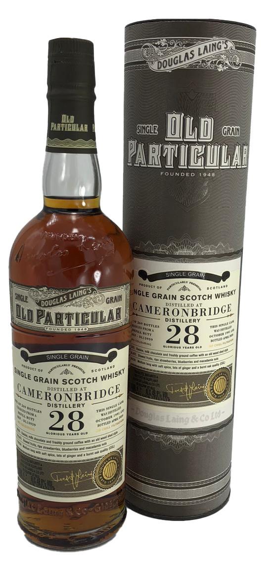 Old Particular Single Grain Cameronbridge 28 Years Old Douglas Laing´s 49%vol. 0,7l