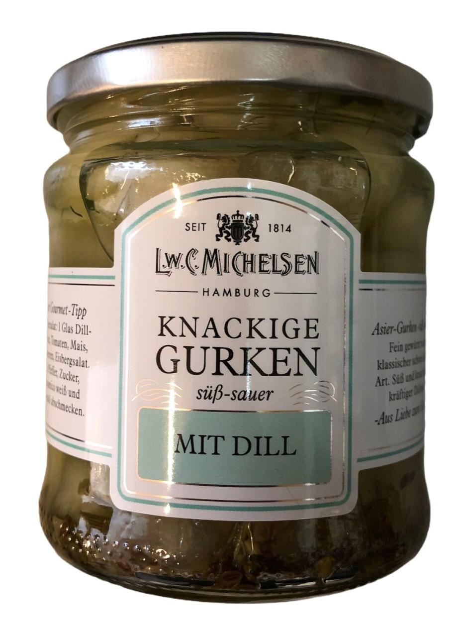 L.W.C. Michelsen Knackige Gurken mit Dill -süß sauer- 330g