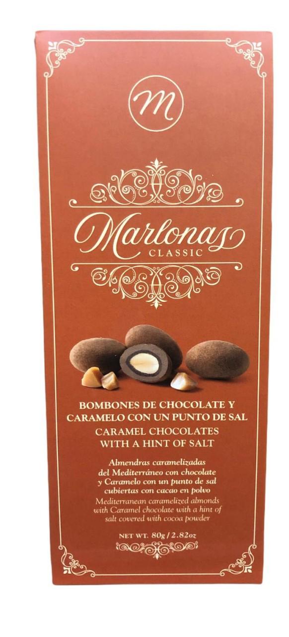 Marlonas Bombones de Chocolate y Caramelo con un punto de sal 80g