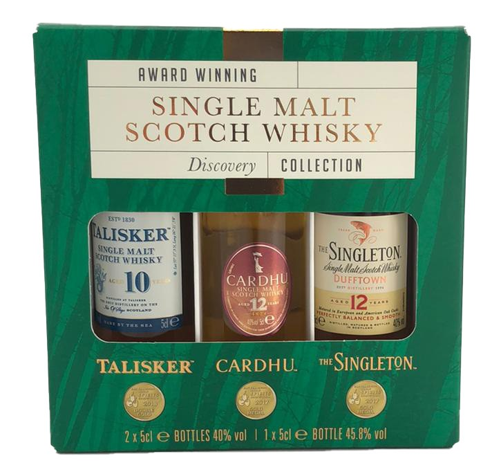 Classic Malt Explorer/GP Set Talisker 10yo, Cardhu 12yo, the Singleton 12YO