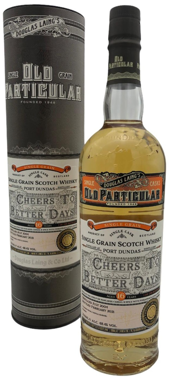 OLD PARTICULAR Cheers to better days Port Dundas Single Grain16 Years Old 0,7l