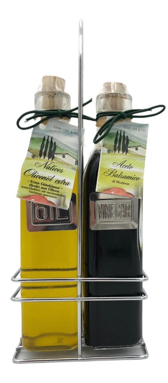 Aceto Balsamico + Natives Olivenöl im 2-er Set (je 250ml)
