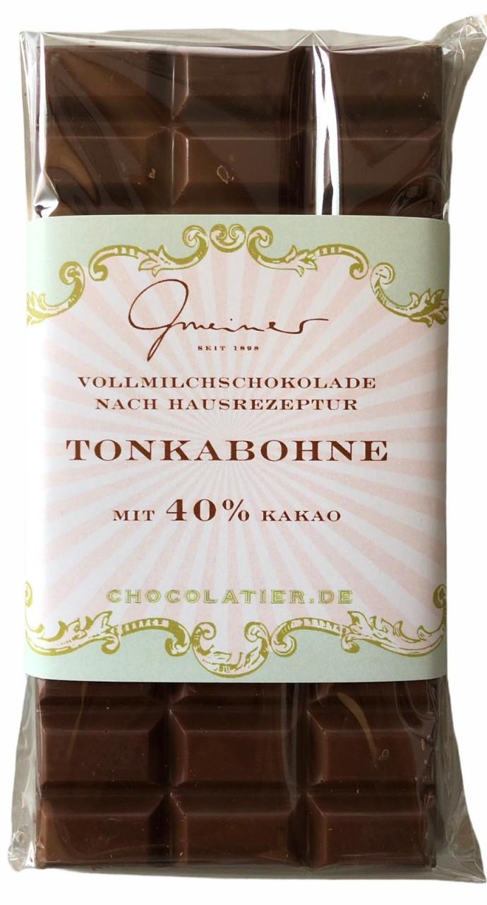 Gmeiner Vollmilchschokolade Tonkabohne 40% 100g