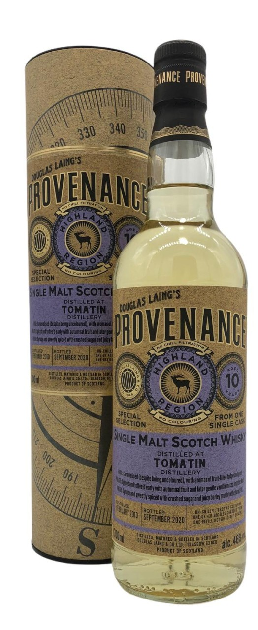Provenance Tomatin 10 Years Old 0,7l