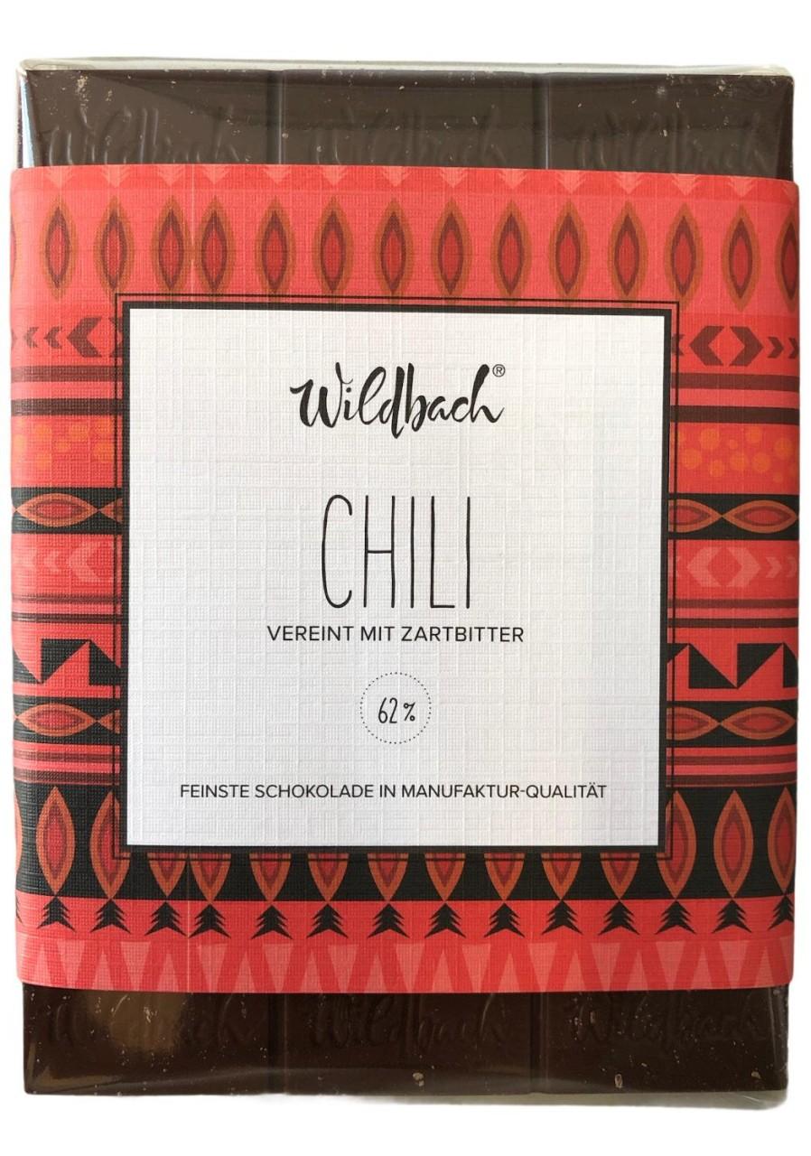 Wildbach Chili Vereint mit Zartbitter 62% 70g