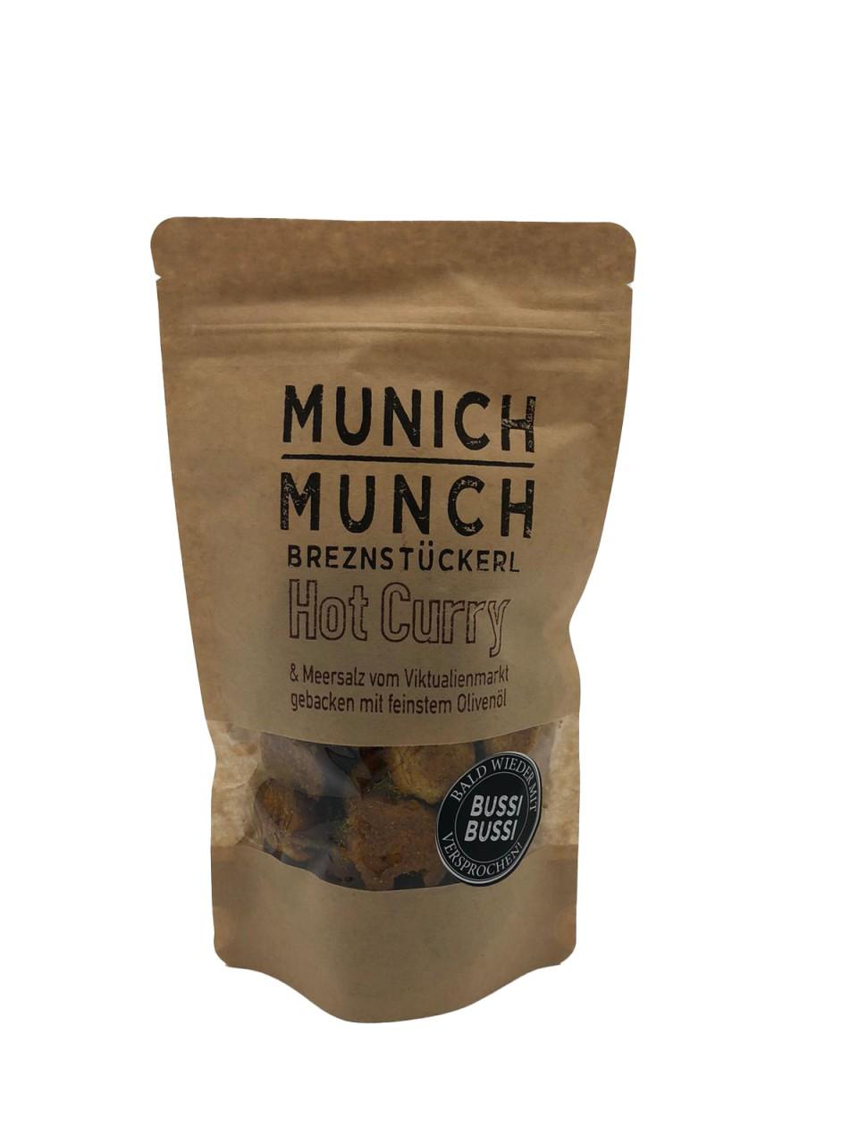 Munich Munch Brezenstückerl Hot Curry & Meersalz vom Viktualenmarkt gebacken mit feinstem Olivenöl
