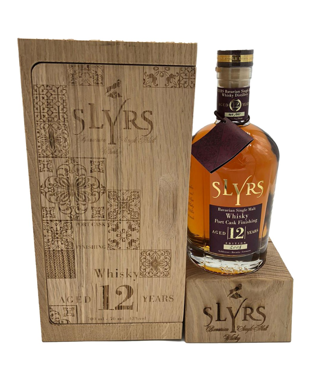 Slyrs Port Cask Finishing 12 Years Aged (In Holzbox + 0,05 l Probierfläschchen)
