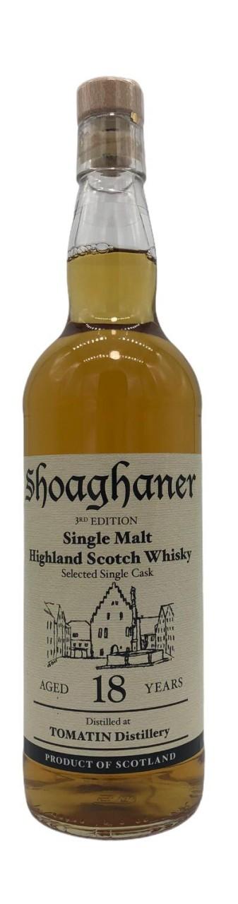 Shoaghaner Single Malt Whisky 1st Edition Tomatin Distillery 18 Jahre 0,7l
