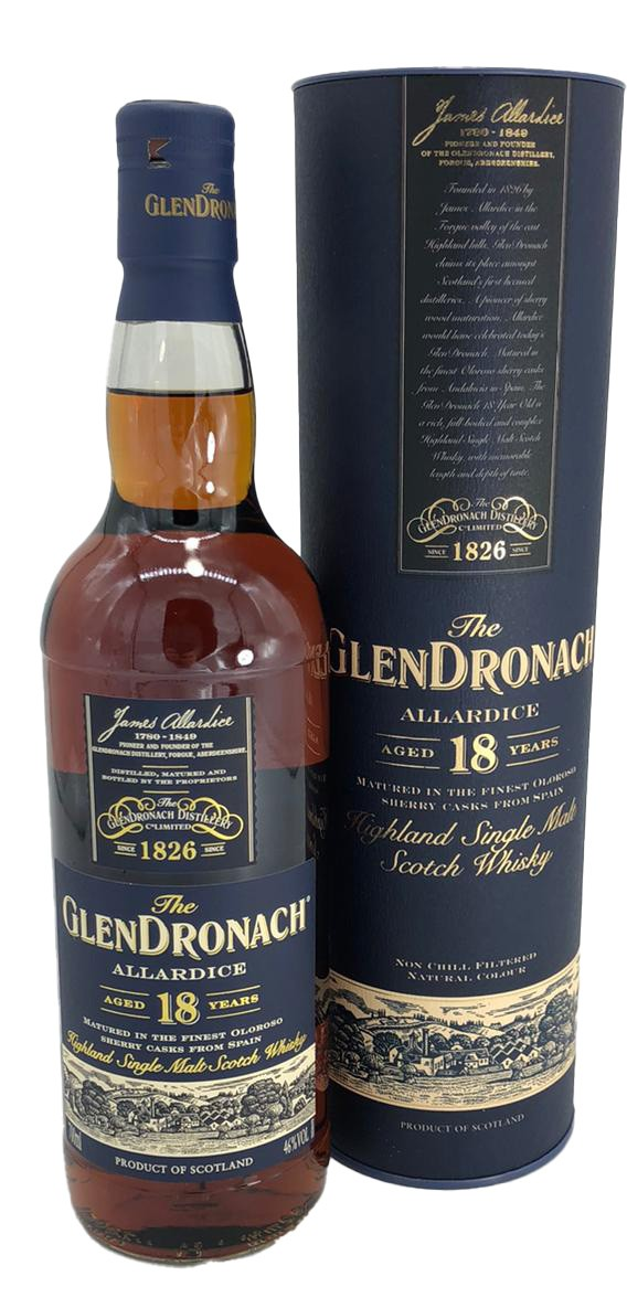 Glendronach Allardice 18 Years Old Allardice Oloroso Whisky 0,7l