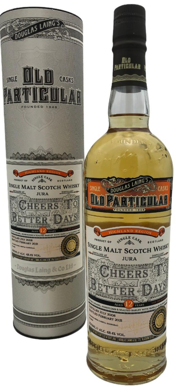 OLD PARTICULAR Cheers to better days Single Malt Jura 12 Years Old 0,7l