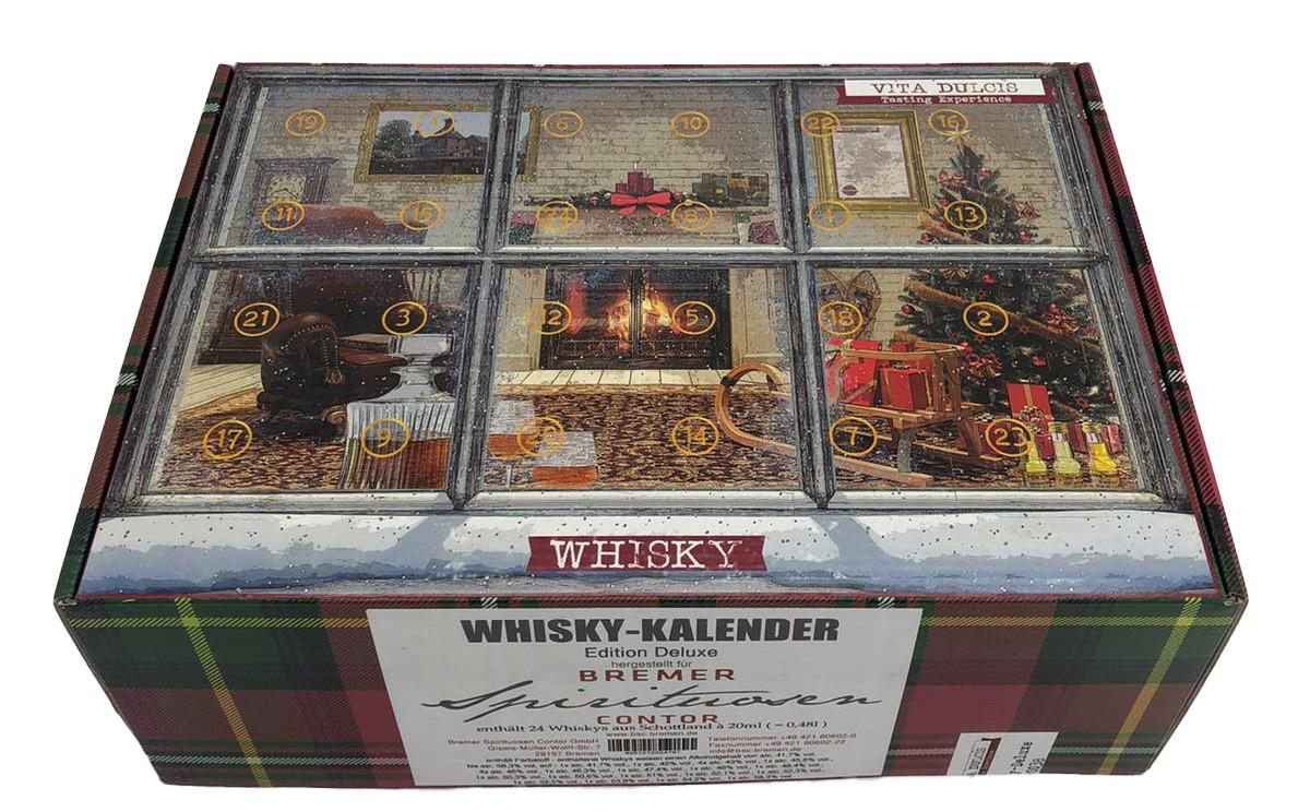 Whisky-Kalender Edition Deluxe (enthält 24 Whiskys aus Schottland)
