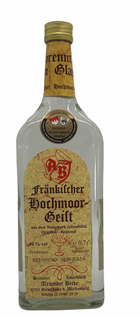 Fränkischer Hochmoorgeist Alexander Betke 0,7l 56%vol.