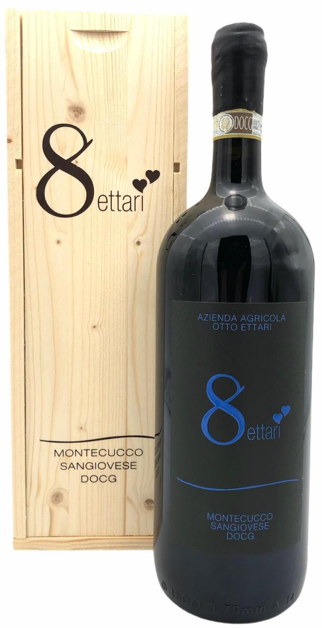 Otto Ettari Sangiovese Montecucco DOCG 2016 1,5L Magnum in Holzkiste