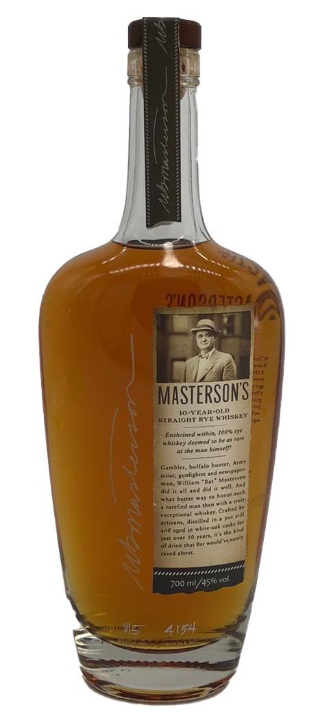 Masterson's Straight Rye Whiskey 10 Jahre