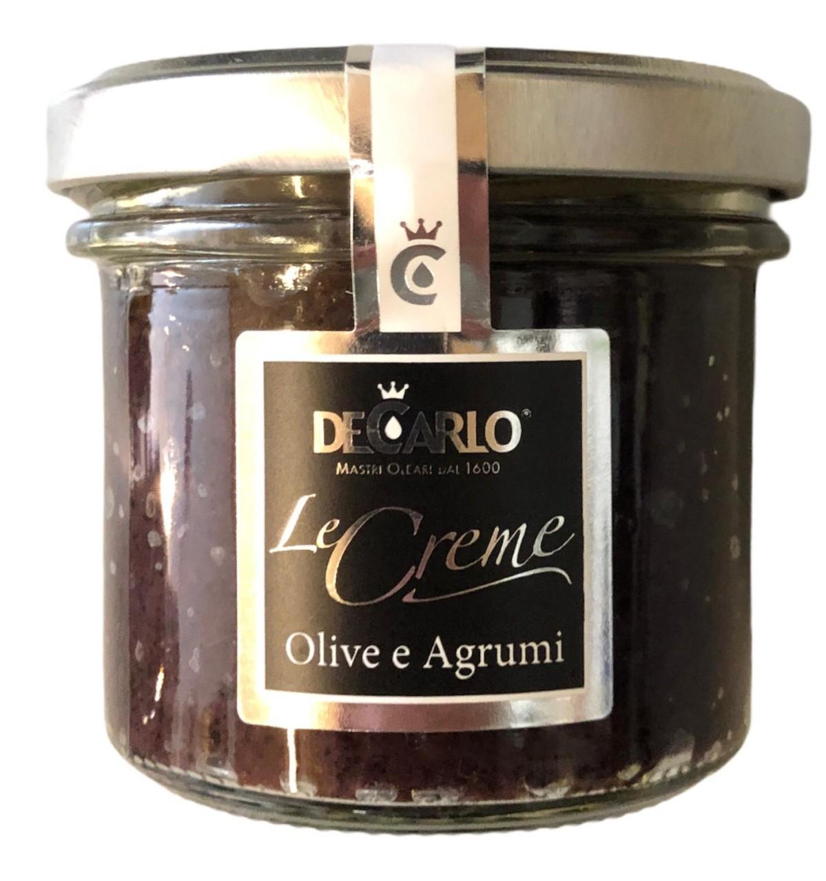 De Carlo Le creme Olive a Agrumi 100g