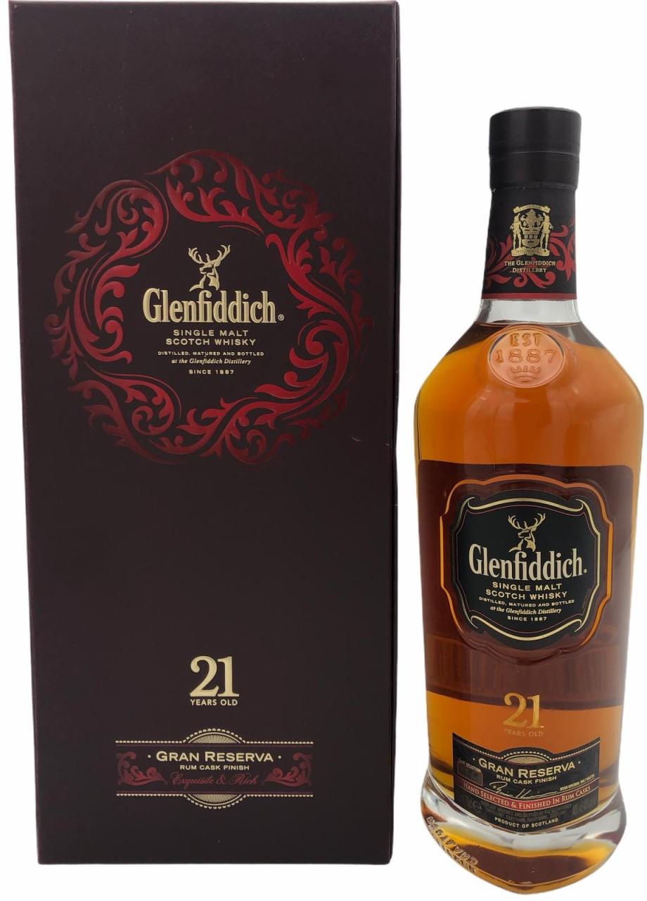 Glenfiddich 21 Years Old Single Malt Gran Reserva Rum Cask Finish 40% vol. 0,7l