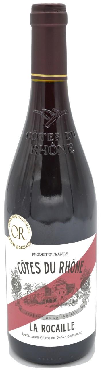 Cotes du Rhone La Rocaille Rotwein 2017