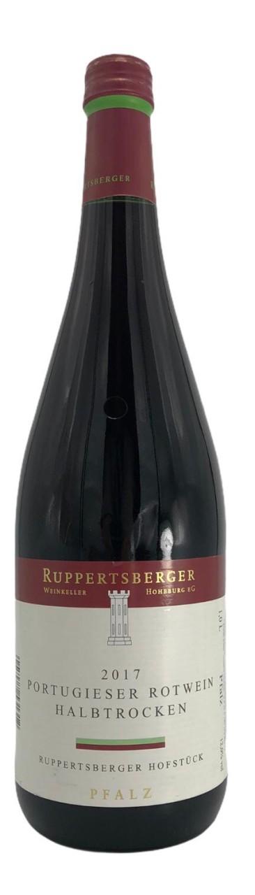 Ruppertsberger Portugieser Rotwein halbtrocken 2017