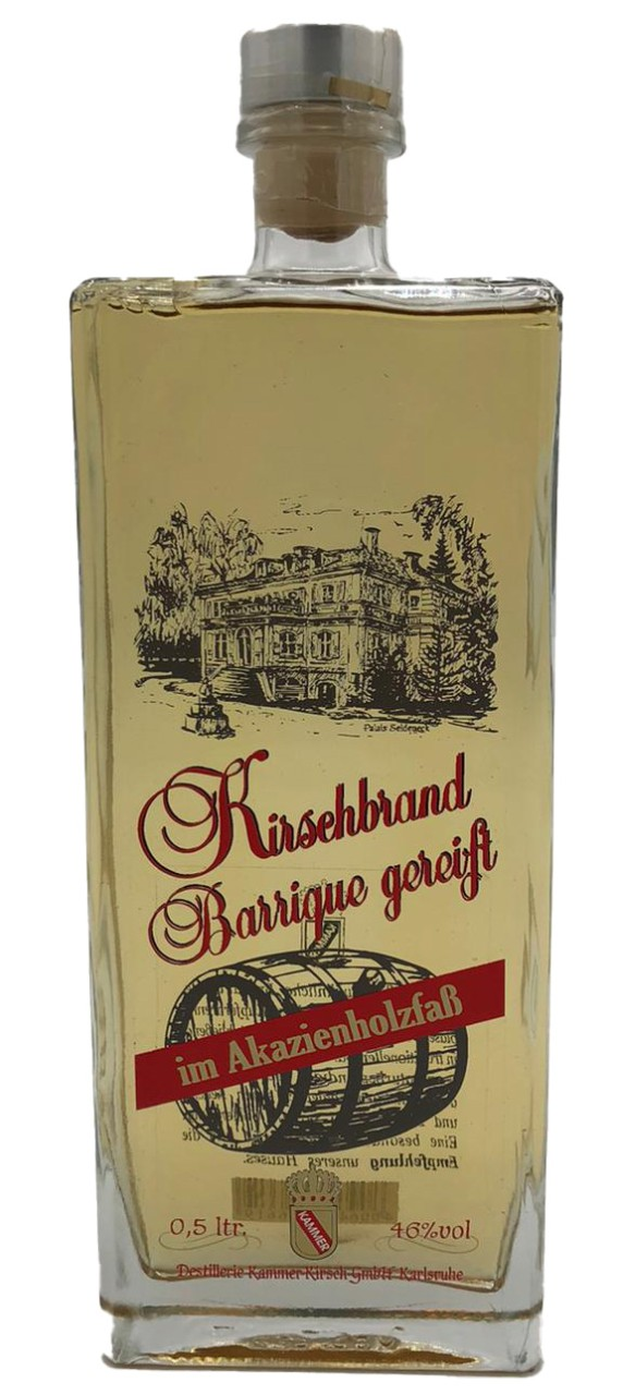 Kirschbrand Barrique gereift (im Akazienholzfaß) - Kammer - 0,5l