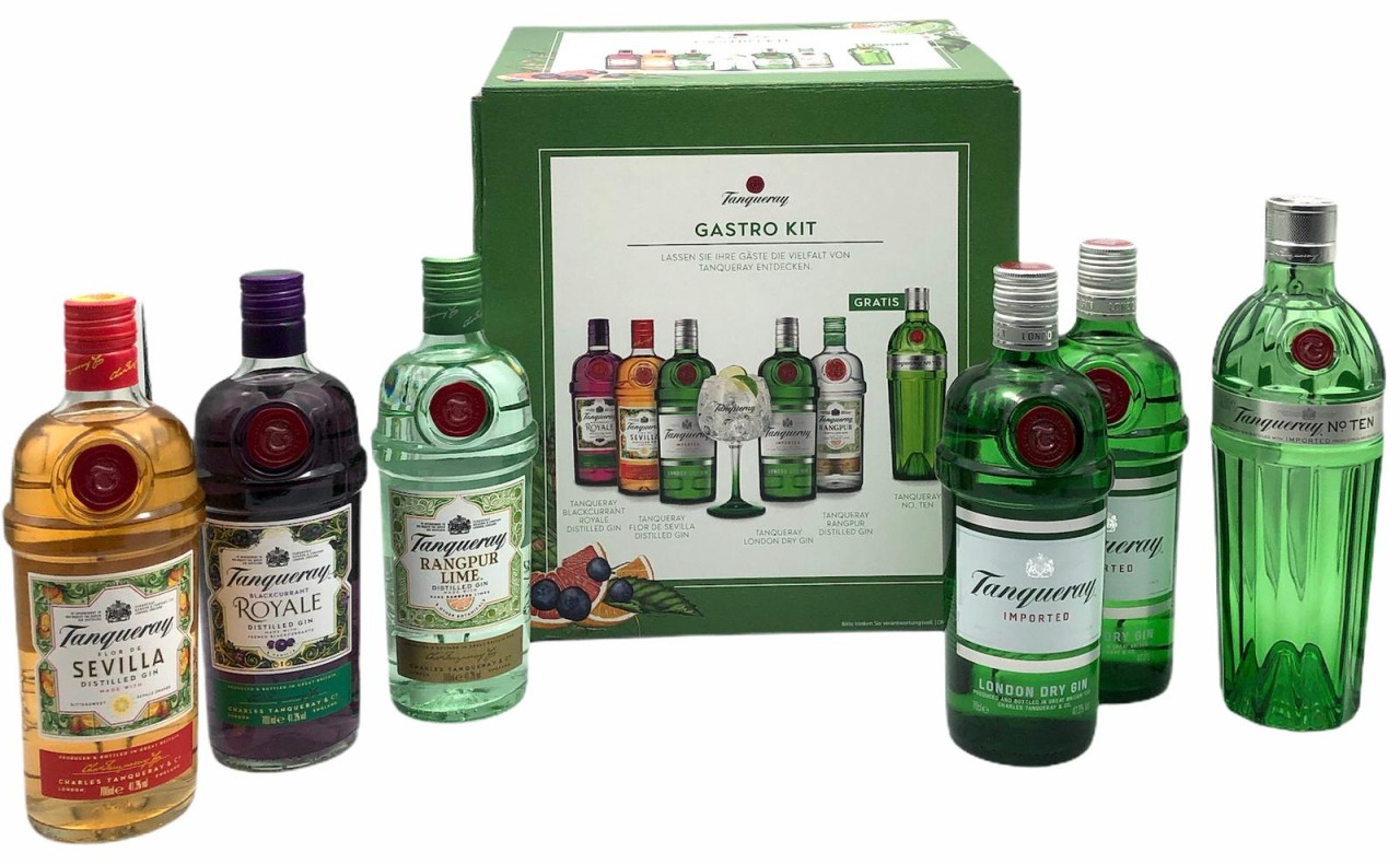 Tanqueray Gin Mix Karton FGH Paket 44,3% vol. (6 Flaschen)